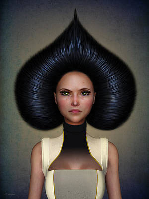 Surrealism Digital Art - Queen of spades by Britta Glodde
