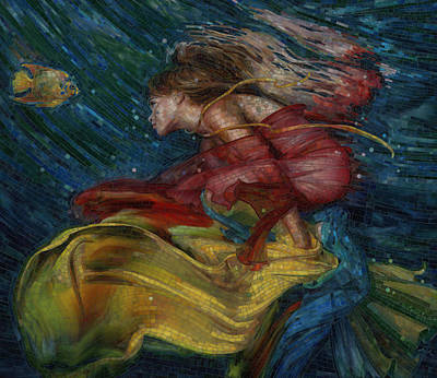 Underwater Painting - Queen Of The Angels by Mia Tavonatti
