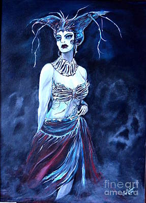 Queen Of The Dead Art Print by Valarie Pacheco