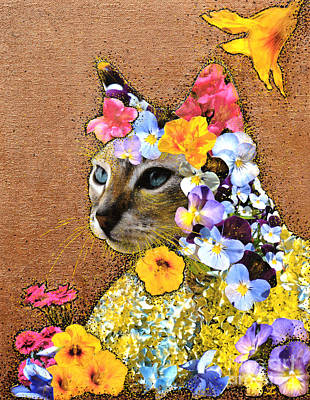 Mixed Media - Queen Of The Garden by Zaira Dzhaubaeva