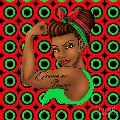 Queen Power Art Print