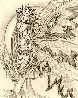 Queen Rhiannon Art Print by Coriander  Shea