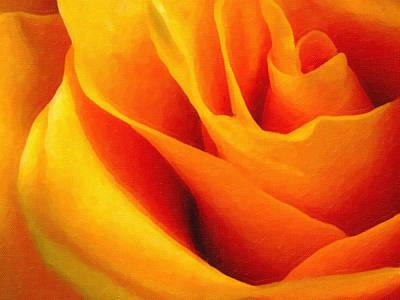 Photograph - Queen Rose - Digital Painting Effect by Rhonda Barrett