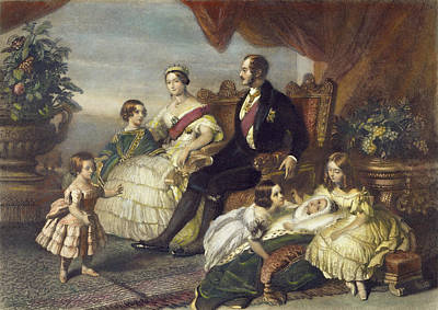 Victoria Painting - Queen Victoria & Family by Granger