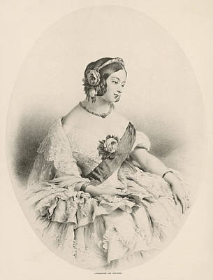 1819-1901 Drawing - Queen Victoria (1819-1901) by Mary Evans Picture Library