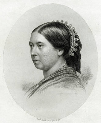 1819-1901 Drawing - Queen Victoria  A Characteristic by Mary Evans Picture Library
