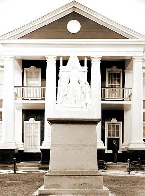 Queen Victoria Monument, Victoria, Queen Of Great Britain Art Print