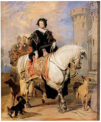 Landseer Painting - Queen Victoria On Horseback by Sir Edwin Landseer