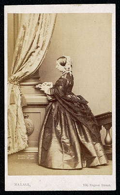 1819-1901 Photograph - Queen Victoria  Photographed On 1 March by Mary Evans Picture Library