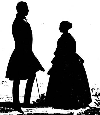 Victoria Painting - Queen Victoria Silhouette by Granger