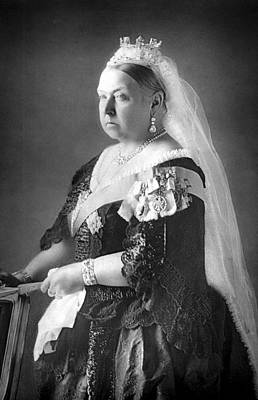 Tiara Photograph - Queen Victoria by Unknown