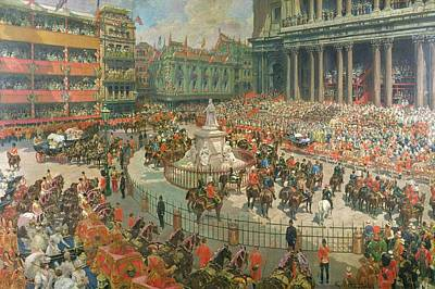 St Pauls Painting - Queen Victorias Diamond Jubilee, 1897 by G.S. Amato
