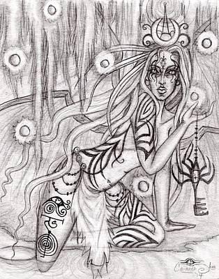Queen W' Alatien Art Print by Coriander  Shea
