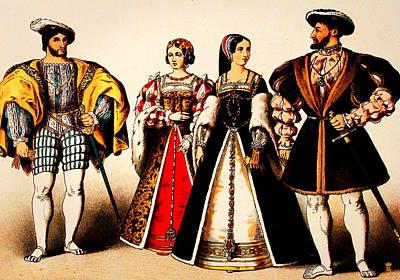 Queens And King Of France 1500 Original by Li   van Saathoff