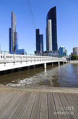Queens Bridge - Yarra River And Skyscrapers - Melbourne - Australia Art Print