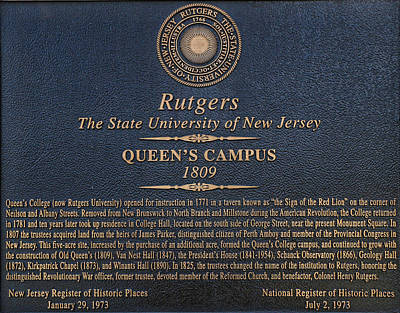 Photograph - Queen's Campus - Commemorative Plaque by Allen Beatty