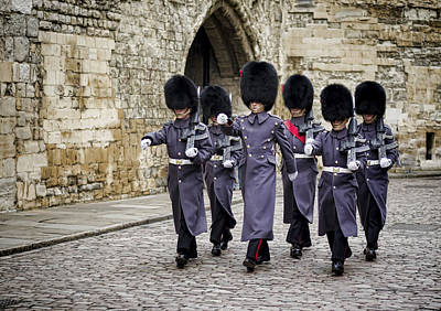 London Photograph - Queens Guard by Heather Applegate