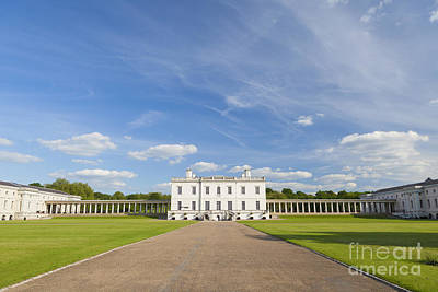 Queen's House In Greenwich Art Print by Roberto Morgenthaler