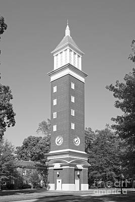 Photograph - Queens University Of Charlotte Evans Clock Tower by University Icons