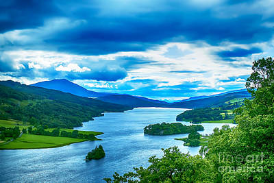 Red Roses - Queens View Loch Tummel by Chris Thaxter