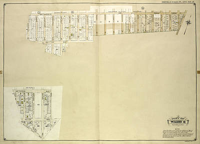 Queens, Vol. 1, Double Page Plate No. 21 Part Of Ward 4 Map Art Print by Litz Collection
