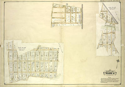Queens, Vol. 1, Double Page Plate No. 22 Part Of Ward 4 Map Art Print by Litz Collection