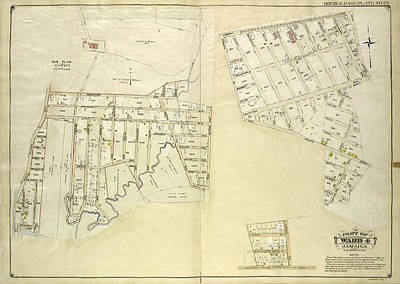 Queens, Vol. 1, Double Page Plate No. 25 Part Of Ward 4 Art Print by Litz Collection