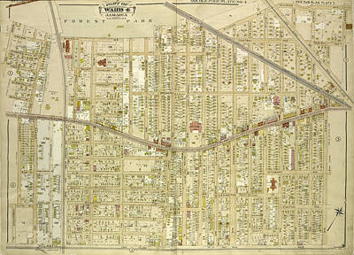 Queens, Vol. 1, Double Page Plate No. 4 Part Of Ward 4 Art Print by Litz Collection