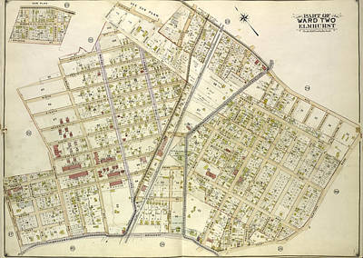 Junction Drawing - Queens, Vol. 2, Double Page Plate No. 25 Sub Plan Map by Litz Collection