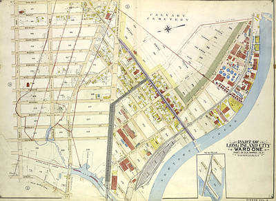 Long Island Drawing - Queens, Vol. 2, Double Page Plate No. 4 Part Of Long Island by Litz Collection