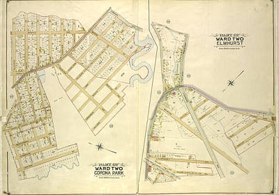 Queens, Vol. 2, Part Of Ward Two Corona Park Map Bounded Art Print