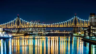 Photograph - Queensboro Bridge By Night by Mihai Andritoiu