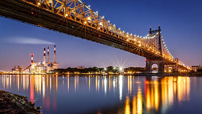 Art Print featuring the photograph Queensboro Bridge by Mihai Andritoiu