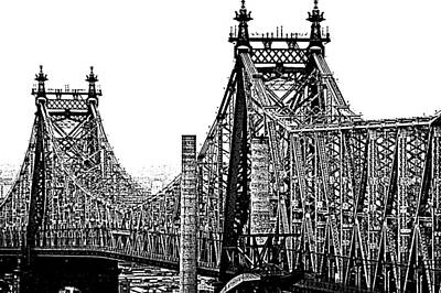 Queensborough Or 59th Street Bridge Art Print by Steve Archbold