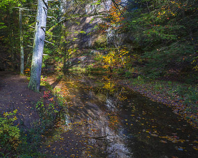 Photograph - Fall Creek Reflection by Jack R Perry