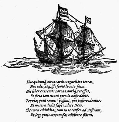 Pedro Drawing - Queiros Voyages, 1612 by Granger