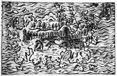 Pedro Drawing - Queiros Voyages, 1613 by Granger