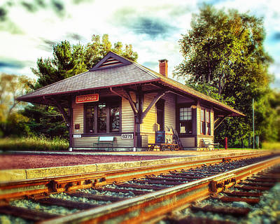 Photograph - Queponco Railroad Station Of Yesteryear by Bill Swartwout Fine Art Photography