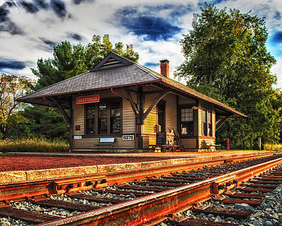 Photograph - Queponco Railway Station by Bill Swartwout Fine Art Photography