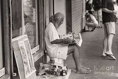 Photograph - Quepos Street Artist by Russell Christie