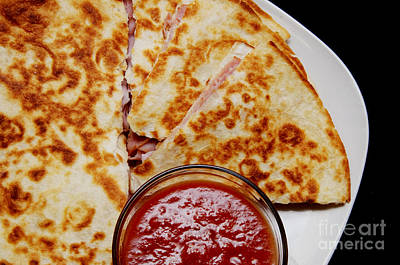 Cheddar Cheese Photograph - Quesadilla by Andee Design