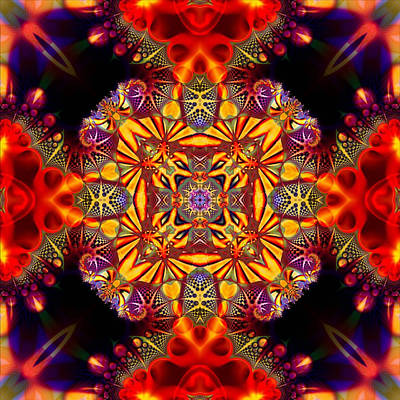 Digital Art - Quesar Kaleidoscope No 4 by Charmaine Zoe