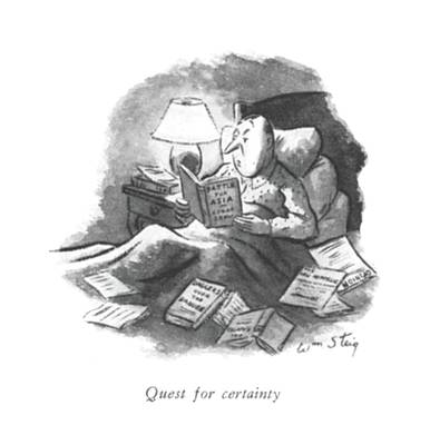 Quest For Certainty Art Print by William Steig