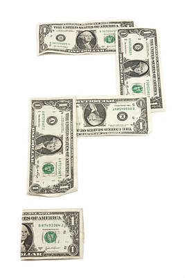 Photograph - Question Mark Of American Money by Keith Webber Jr