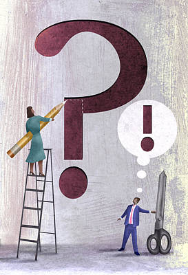 Uncertainties Digital Art - Question Mark by Steve Dininno