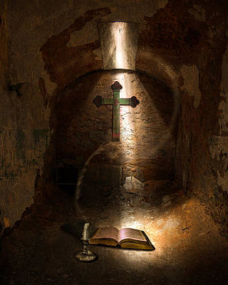 Penitentiary Digital Art - Questioning God by Jeff Burgess