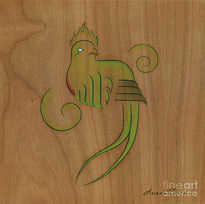 Mayan Mythology Painting - Quetzal II by Lorena Rivera