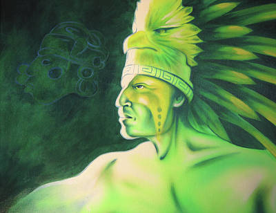 Native Portraits Painting - Quetzal by Robert Martinez