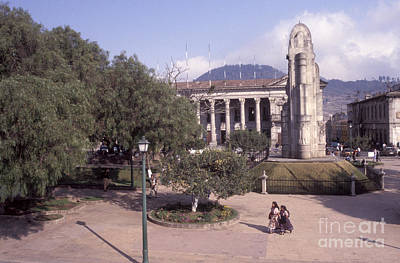 Photograph - Quetzaltenango Main Square Guatemala by John  Mitchell