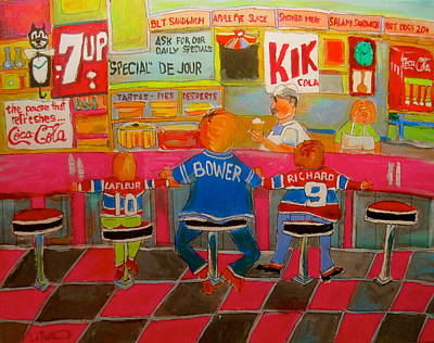 Litvack Painting - Quick Deli With Staff by Michael Litvack